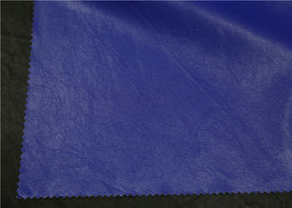 China Waterproof Skirt Garment Leather Fabric 0.35 Mm Blue Color Hydrolysis Resistance supplier