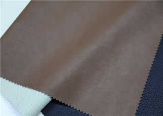 China Embossed Brown Faux Leather Fabric , Faux Leatherette Fabric Abrasion Resistant supplier