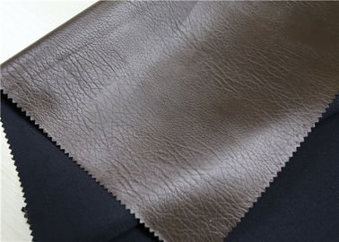 China Embossed Brown Garment Leather Fabric 50% Viscose 50% Polyster 0.75 Mm Thickness supplier