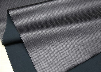 China 0.75 Mm Black Faux Leather Fabric , Embossed Imitation Leather Fabric supplier