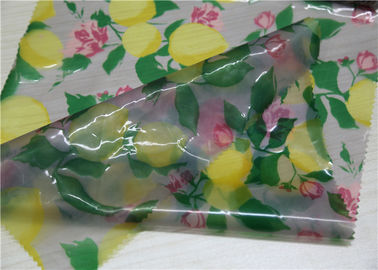 China Transparent TPU Leather Lemon And Flower Printed For Garment 0.15 Mm Thickness supplier