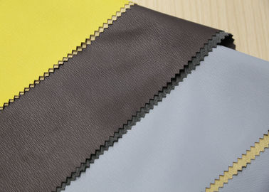 China Brown Faux Leather Fabric For Bags , Polyurethane Synthetic Leather Anti - Mildew supplier