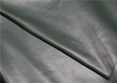 China Dark Green PU Synthetic Leather Abrasion Resistant For Jacket / Dress / Bags supplier