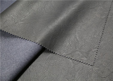 China 100% Viscose Embossed PU Leather 300 Gsm Anti - Mildew For Clothing Fabric supplier