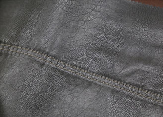 China 0.6 Mm PU Leather Faux Leather , Embossed Synthetic Leather Fabric For Garment supplier