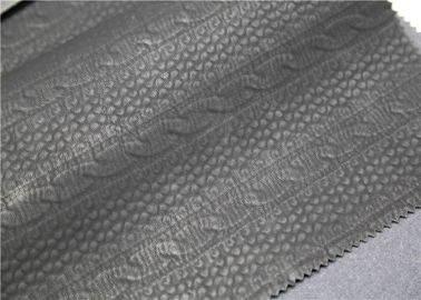China Carbon Black PU Washed Leather Handfeeling No Fading For Clothing Fabric supplier