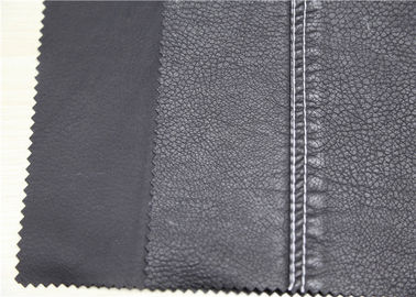 China Dark Silver PU Washed Leather Hydrolysis Resistance For Clothing Fabric supplier