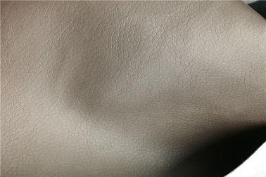 China Brown Sofa Leather Fabric 0.8 Mm Thickness Abrasion - Resistant Eco - Friendly supplier