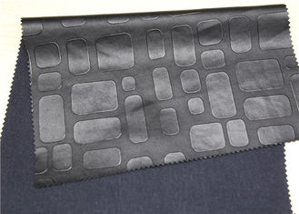 China Black Embossed Leather Fabric For Handbags Anti - Mildew Waterproof supplier