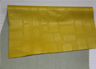 China Embossed Pu Leather Fabric For Handbags 0.55 Mm Thickess Lemon Yellow supplier