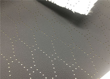China PVC Punched Car Leather Fabric 1.0 Mm Thickness Black Anti - Mildew supplier