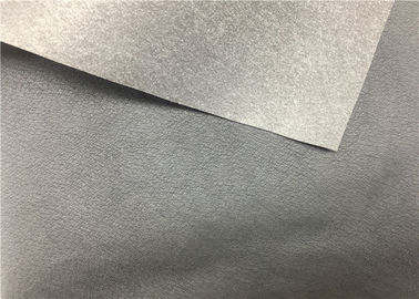 China Black PU Shoes Synthetic Leather 0.55 Mm Thickness High Tearing Strength supplier