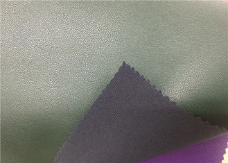 China High Tearing Strength Shoes Synthetic Leather Dark Green Color Eco - Friendly supplier