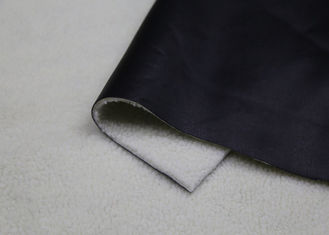 China Women ' S Coat Pu Bonded Faux Leather Fabric 1.4 Mm Thickness Anti- Mildew supplier