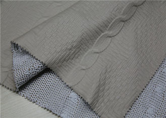 China Beige PU Bonded Leather Fabric Backing Suede Fabric Bonded Knitted Fancy Yarn supplier