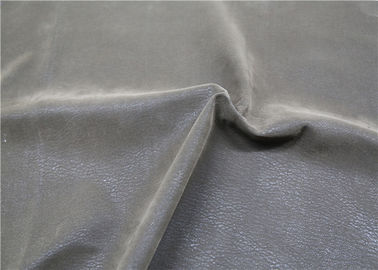 China Garment Jacket Napped Leather , Custom PU Leather Flocking Fabric supplier
