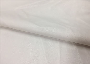 China 0.6 Mm White Pu Pvc Leather , Knitted Fabric Backing Polyester Faux Leather supplier