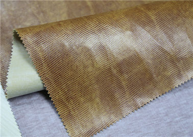 China Brown Faux Leather Material , Waterproof Pvc Artificial Leather 330 Gsm supplier