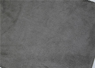 China Suede Fabric Punched Leather 0.5 Mm Thickness Grey Color Eco - Friendly supplier