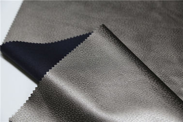 China Embossed Pu Synthetic Leather 0.5mm Pearl Bronze Normal Tearing Strength supplier