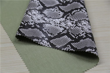 China Grey High Grade Pu Leather / Printed Leather Fabric 0.65mm Thickness supplier