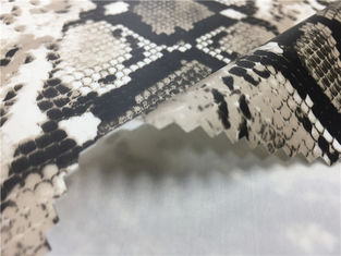 China Grey Color Snakeskin Leather Fabric / 0.25mm PU Faux Snakeskin Material supplier