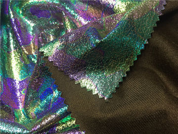 China Shining Color Lamination Garment Leather Fabric 0.35mm Thickness Suede Fabric supplier