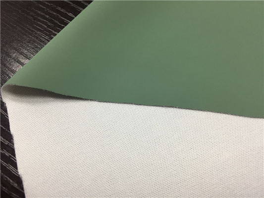 China 0.45mm Pea Green Color Pu Synthetic Leather Coated With Release Paper supplier