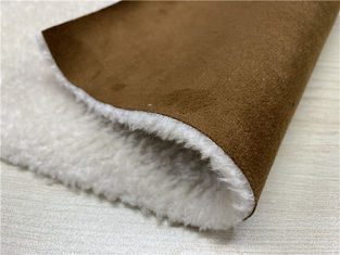 550GSM Suede Leather Fabric Bonded With Faux Fur Normal Peeling Strength
