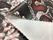 0.35mm Four Way Stretch Fabric / Artificial Leather Fabric Snake Skin Design