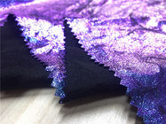 "Anti - Mildew Garment Leather Fabric 54"" Width Purple Color Customized Printed"