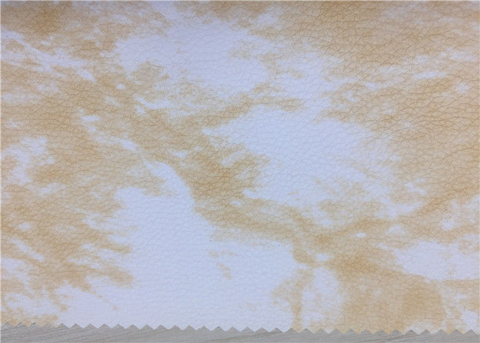 White Printed Sofa Faux Leather Upholstery Fabric Hydrolysis Resistance