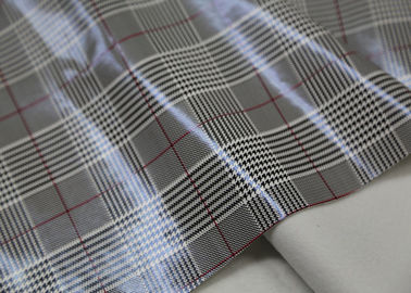Houndstooth Printed PVC Synthetic Leather 0.5 Mm Grey For Garment And Bags