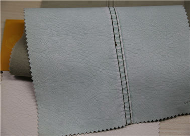 Washed PU Polyurethane Leather , Faux Leather Fabric No Fading For Jacket