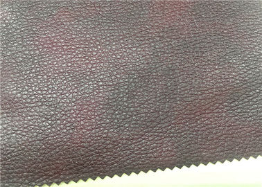 Red Printed Imitation Leather Fabric , 0.8 Mm Artificial Leather Fabric