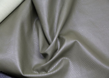Grey Polyurethane Faux Leather , PU Artificial Leather Eco - Friendly