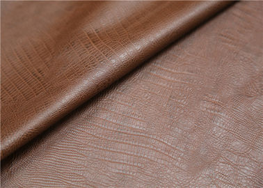 0.6 mm Brown Polyurethane Leather Fabric Twotone Effect Leather For Handbags Shoes