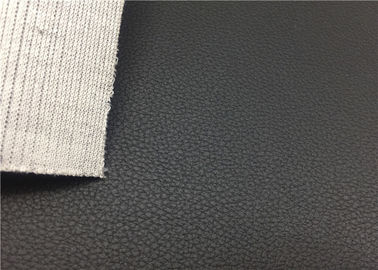 Black PVC Car Leather Fabric 1.0 Mm Microporous For Automotive Interrier
