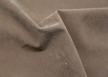 Brown Flocking PU Synthetic Leather 0.7 Mm Thickness Hydrolysis Resistance