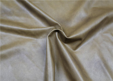 Brown Twotone PVC Synthetic Leather Durable 300 Gsm Normal Peeling Strength