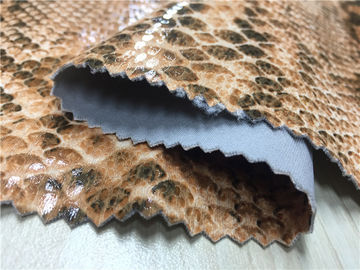 0.6mm Scuba Suede fabric Printed With Snake Skin Design Plus Lamination Effect