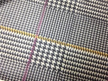 Red / Yellow Lines Printed Printed Leather 0.15mm - 0.20mm Abrasion Resistant