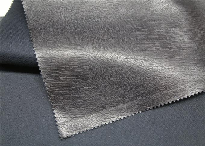 Custom Embossed Garment Leather Fabric Gram Weight 330gsm Anti - Mildew