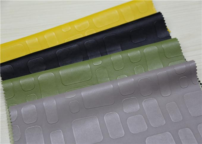 Embossed Pu Leather Fabric For Handbags 0.55 Mm Thickess Lemon Yellow