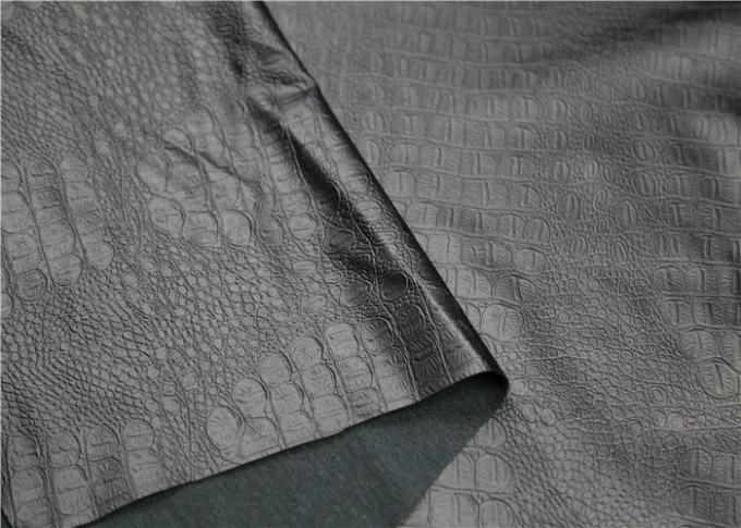 Garment Pvc Faux Leather , Pvc Leather Fabric Crocodile Embossed Design