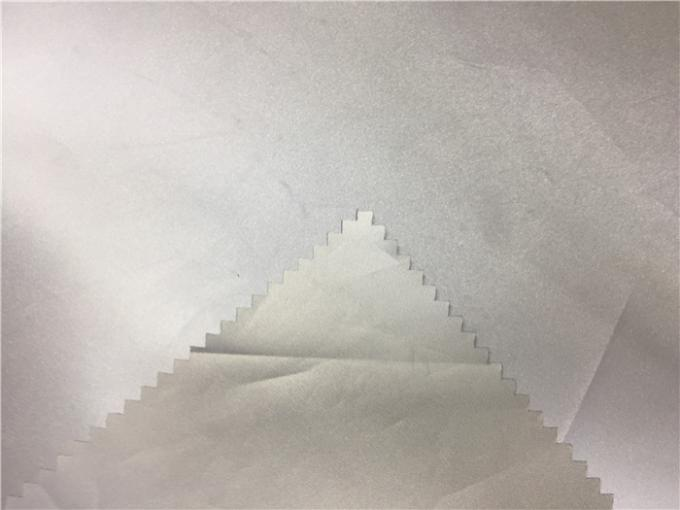 Silver PU Reflective Fabric Garment Leather Fabric 0.13mm For Outdoor Safety Coat