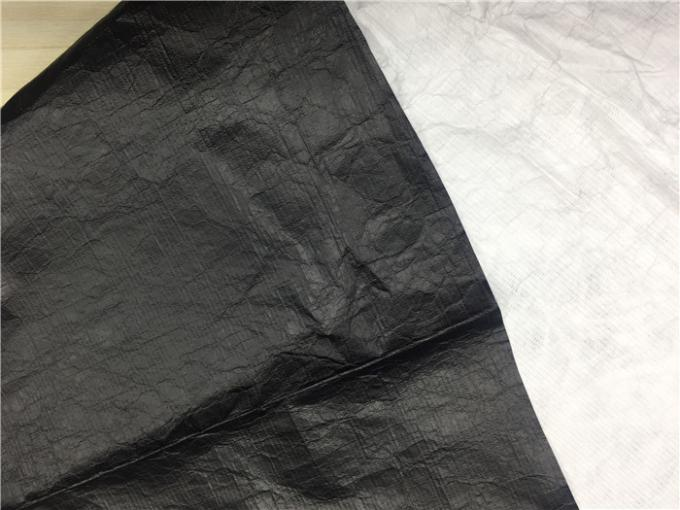 0.15mm With Black PU Garment Leather Fabric Dubont Paper Coated  For Light Jacket
