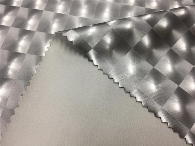 0.45mm Stretch Backing Garment Leather Fabric For Swimwear Silver Color